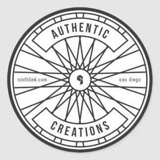Authentic Creations Classic Round Sticker