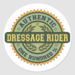 Authentic Dressage Rider Classic Round Sticker