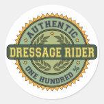 Authentic Dressage Rider Round Stickers