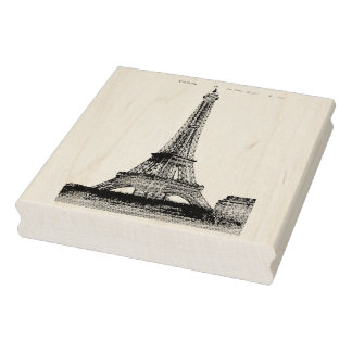 Authentic Eiffel Tower Photo Post Card Art Stamp