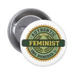 Authentic Feminist 6 Cm Round Badge