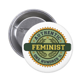 Authentic Feminist 6 Cm Round Badge