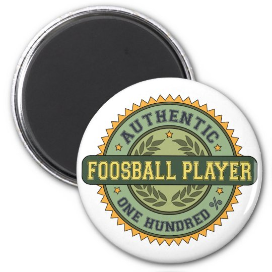 Authentic Foosball Player 6 Cm Round Magnet