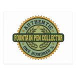 Authentic Fountain Pen Collector Postcard