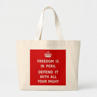 Authentic Freedom Is In Peril Original Red Bag