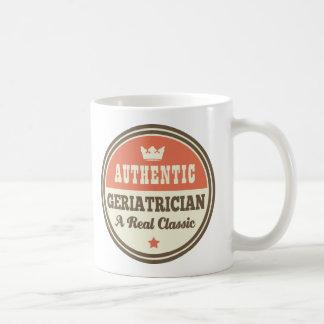 Authentic Geriatrician Vintage Gift Idea Basic White Mug