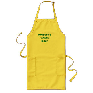 Authentic Greek Chef Long Apron