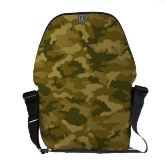 Authentic Green Army Military Camo Camouflage Messenger Bags