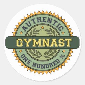 Authentic Gymnast Round Sticker