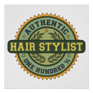Authentic Hair Stylist Print