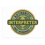 Authentic Interpreter Postcard