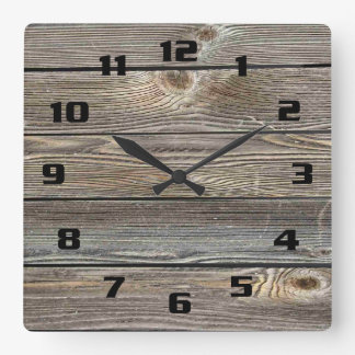 Authentic looking wood clock