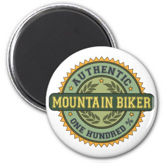 Authentic Mountain Biker 6 Cm Round Magnet