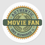 Authentic Movie Fan Round Stickers