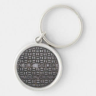 Authentic NYC Sewer Cover Filthy Greasy Grubby Key Ring
