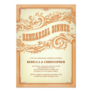 Authentic Old Western Rehearsal Dinner Invitation
