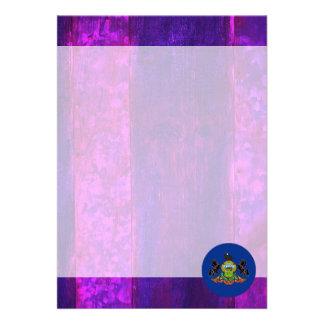 Authentic Pennsylvanian Flag 13 Cm X 18 Cm Invitation Card