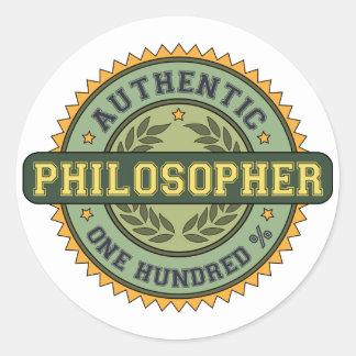 Authentic Philosopher Round Sticker
