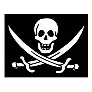 Authentic Pirate Flag of Jack Rackam Postcards
