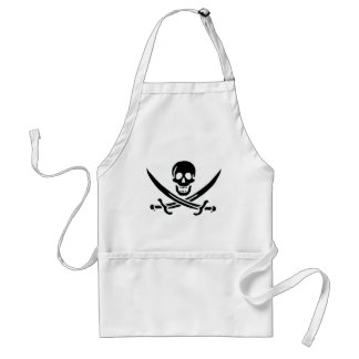 Authentic Pirate Flag of Jack Rackam Standard Apron