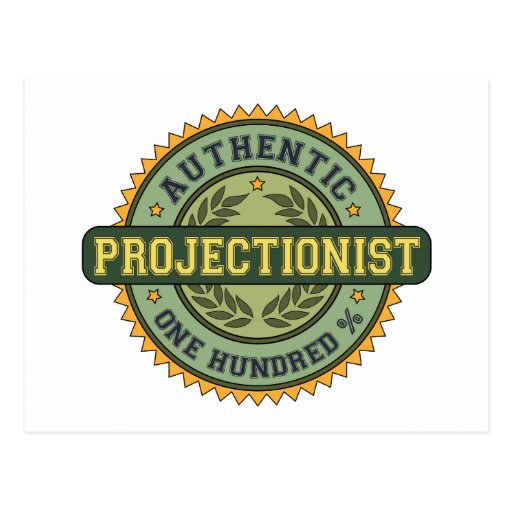 Authentic Projectionist Postcard
