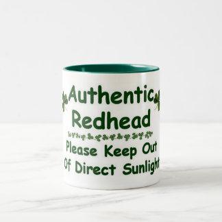 Authentic Redhead Two-Tone Coffee Mug