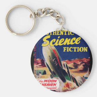 Authentic Science Fiction 016 (1951-12.Hamilton)_P Basic Round Button Key Ring