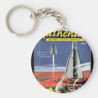 Authentic Science Fiction Monthly _February 1954_P Basic Round Button Key Ring