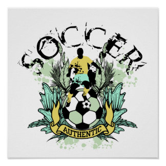 Authentic Soccer Tshirts and Gifts Poster