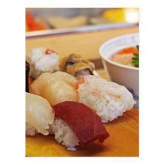 Authentic Sushi Sashimi Postcard