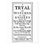 Authentic Witch Trials Poster Postcards