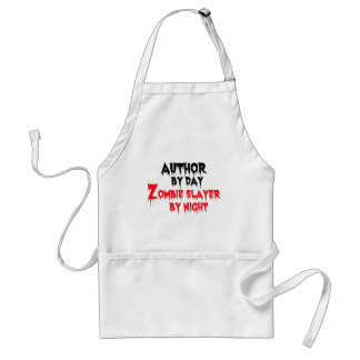 Author by Day Zombie Slayer by Night Standard Apron