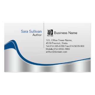 Author Chrome Silver Wave Professional Pack Of Standard Business Cards