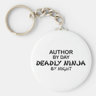 Author Deadly Ninja by Night Basic Round Button Key Ring