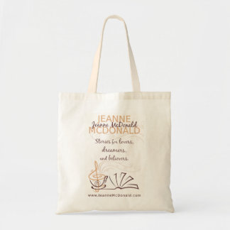 Author Jeanne McDonald Tote Budget Tote Bag