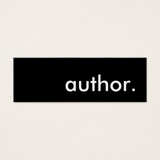 author. mini business card