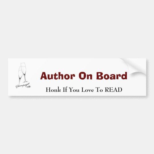 Author On Board Bumper Sticker