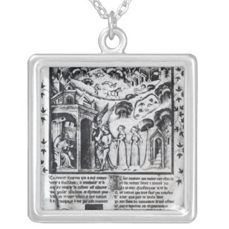 author receiving Love who brings Sweet Thoughts, Silver Plated Necklace
