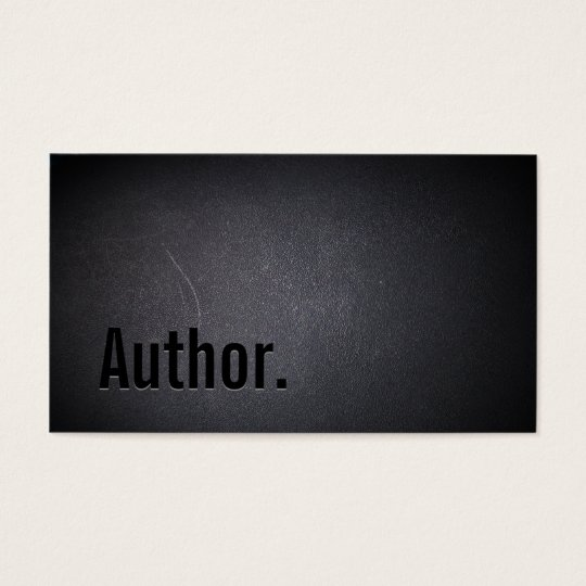 Author Writer Elegant Black Minimalist Bold Text Business