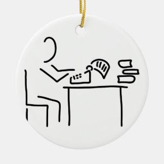 author writer typewriter christmas ornament