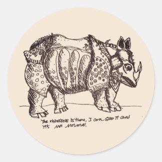 Authoritarian Rhino Classic Round Sticker