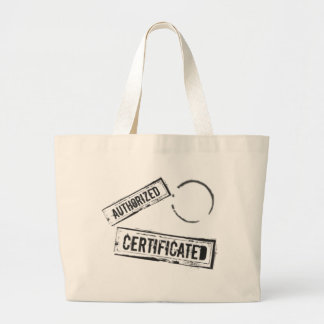 AUTHORIZED & CERTIFICATED STAMPS JUMBO TOTE BAG