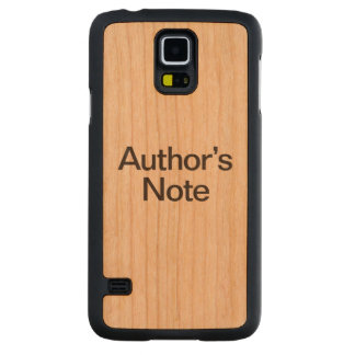 authors note carved® cherry galaxy s5 case