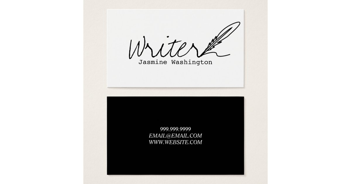 Authors writers business card zazzlecouk for Authors business cards
