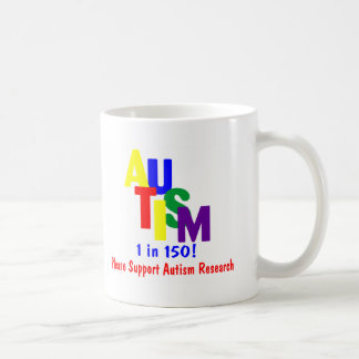 Autism 1 in 150 (Support Autism Research Bright) Mug
