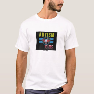'Autism A Kids' Mens Basic T-Shirt, White* T-Shirt
