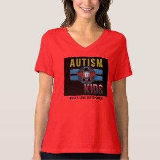 'Autism A Kids' Women's Plus-Size  V-Neck T-Shirt* T-Shirt