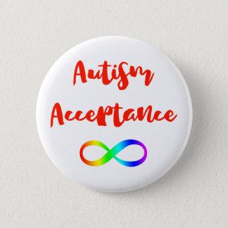 Autism Acceptance Infinity Symbol 6 Cm Round Badge