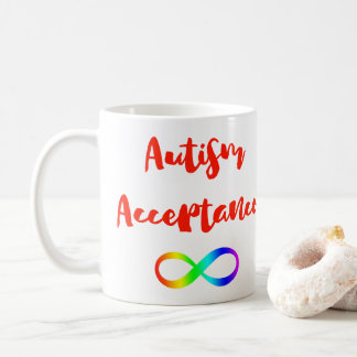 Autism Acceptance Infinity Symbol Coffee Mug