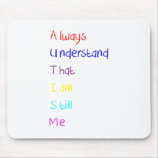 Autism Acrostic Poem Crayon Mousepad